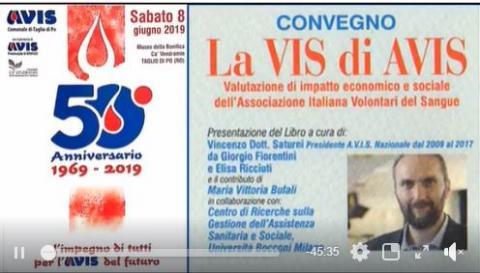 50° ANNIVERSARIO AVIS COMUNALE DI TAGLIO DI PO  CA' VENDRAMIN  Gli interventi degli Ospiti